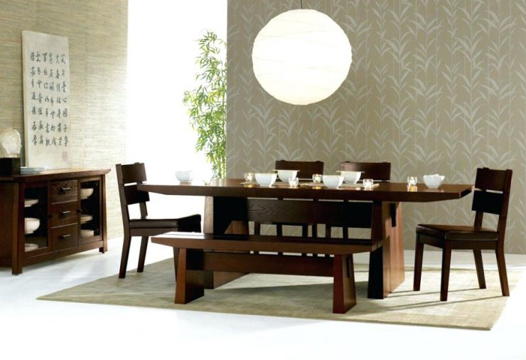 Mini Chairs and Bench Japanese Dining Table