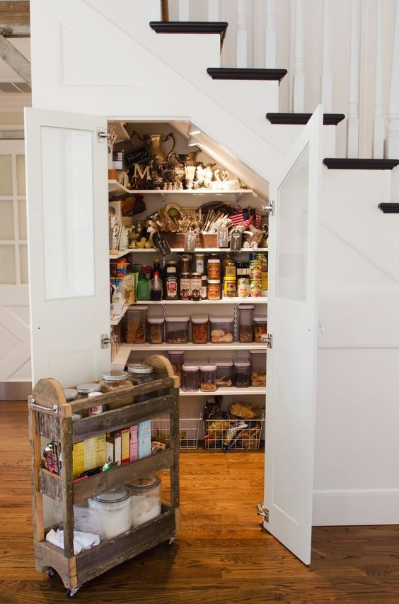 Under Stair Storage For Pantry