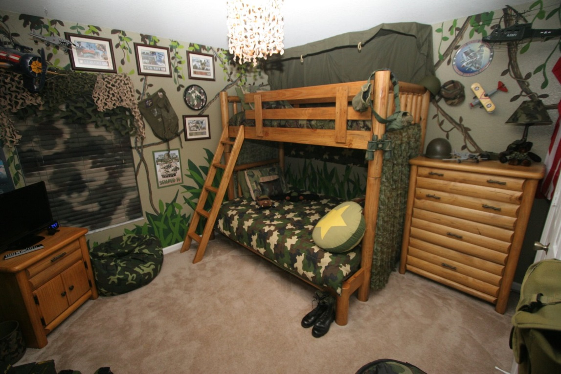Army Bedroom Ideas for Boy