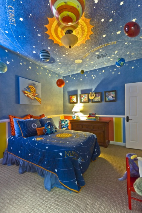 Outer Space Bedroom Ideas