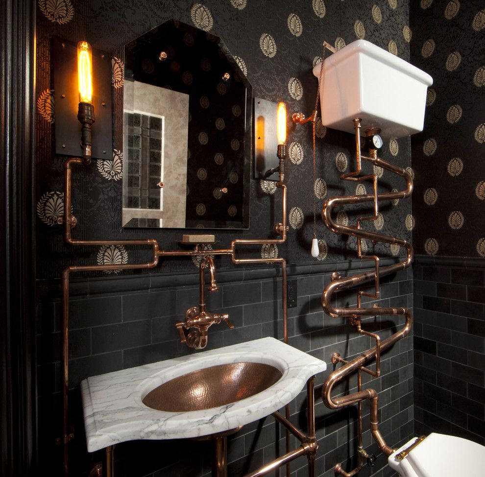 Steampunk Powder Room Ideas