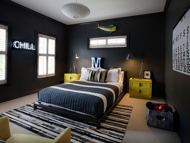 Masculine Boys Bedroom