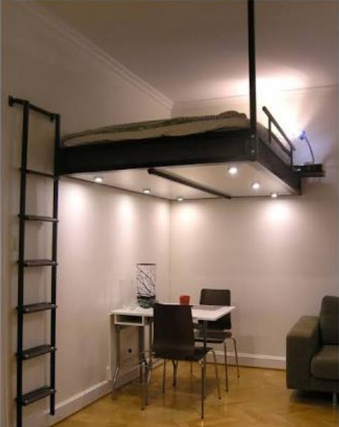 Loft Beds Above a Dining Table