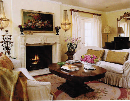 Luxurious French Country Living Room
