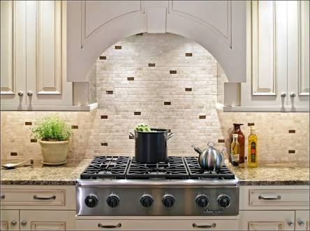 Beige Subway Tiles Backsplash
