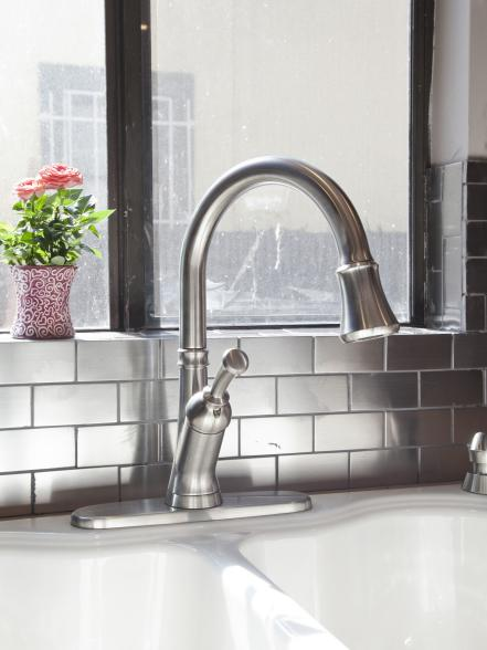 Stainless Steel Subway Tiles Backsplash