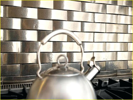 Brass Subway Tile Backsplash