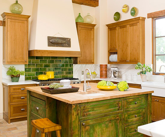 Rustic Green Subway Tiles