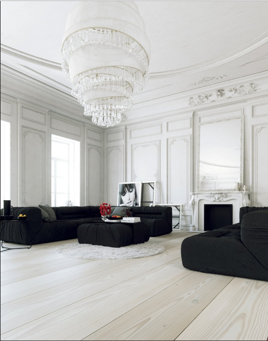French Country Decor Black and White