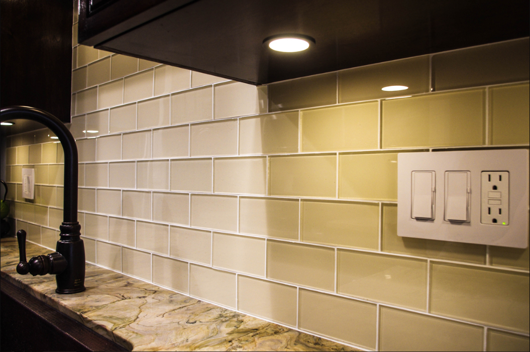 Glass Subway Tile Backsplash