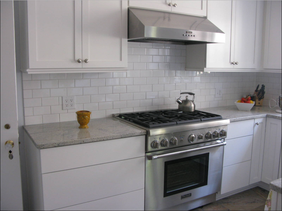 Grey Subway Tile Backsplash