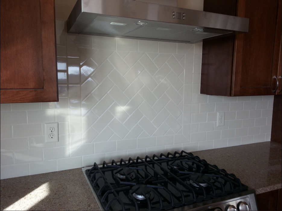 Subway Tile Backsplash Behind Stove