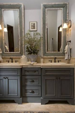 French Country Grey Bathroom