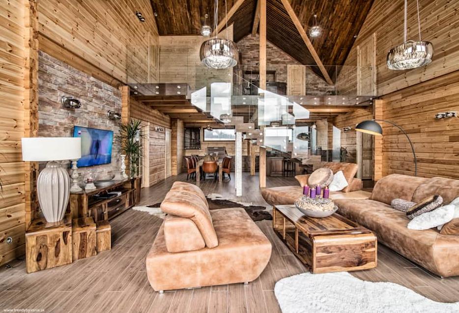 Suburban Log Cabin Interior