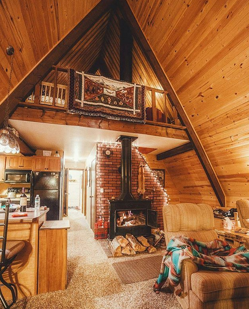 Small Log Cabin Interior