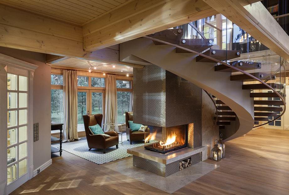 Modern Log Cabin House
