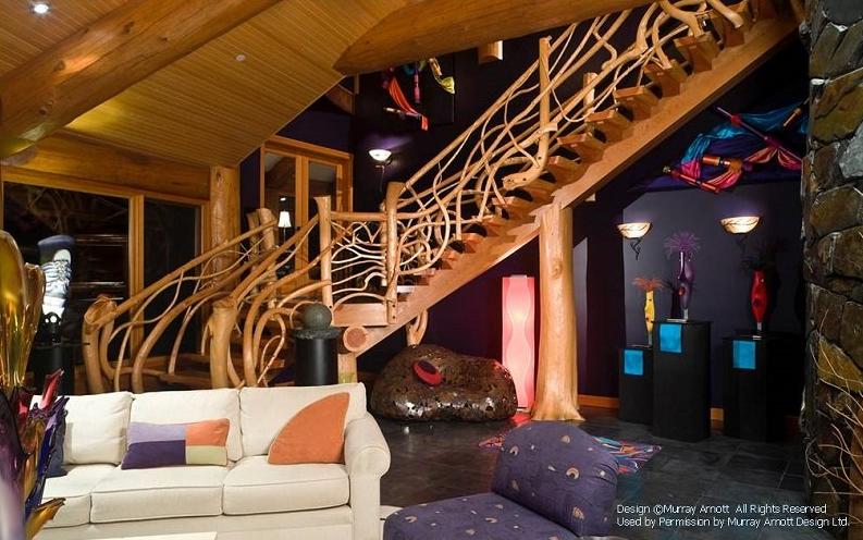 Eclectic Log Cabin Interior
